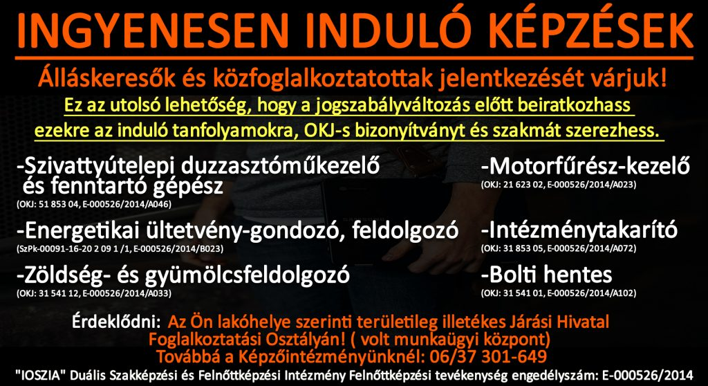 Szabolcs-Szatmár-Bereg megye - Ingyenes képzések - Felnőttképzés - felnottkepzes.hu - IOSZIA